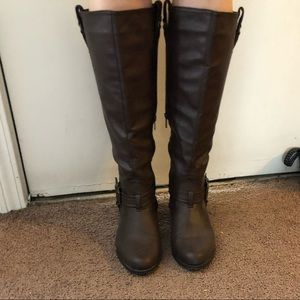 Brown Rampage Knee High Boots